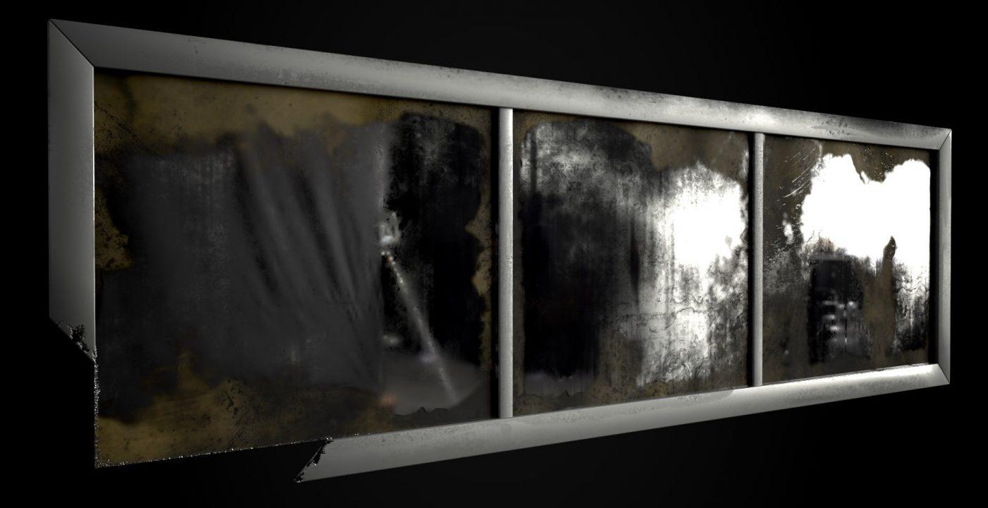 Espejo de los lavabos. Render IRAY en Substance Painter