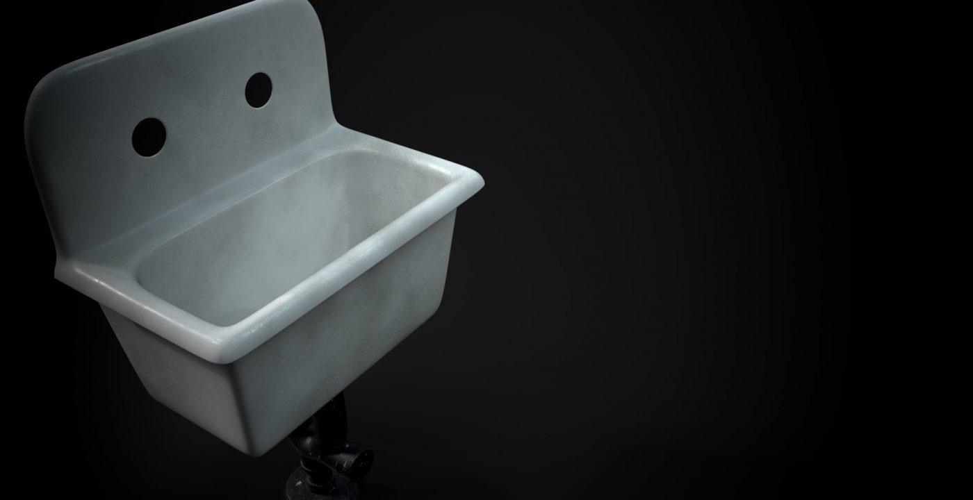 Pieza base de los lavabos. Render IRAY en Substance Painter