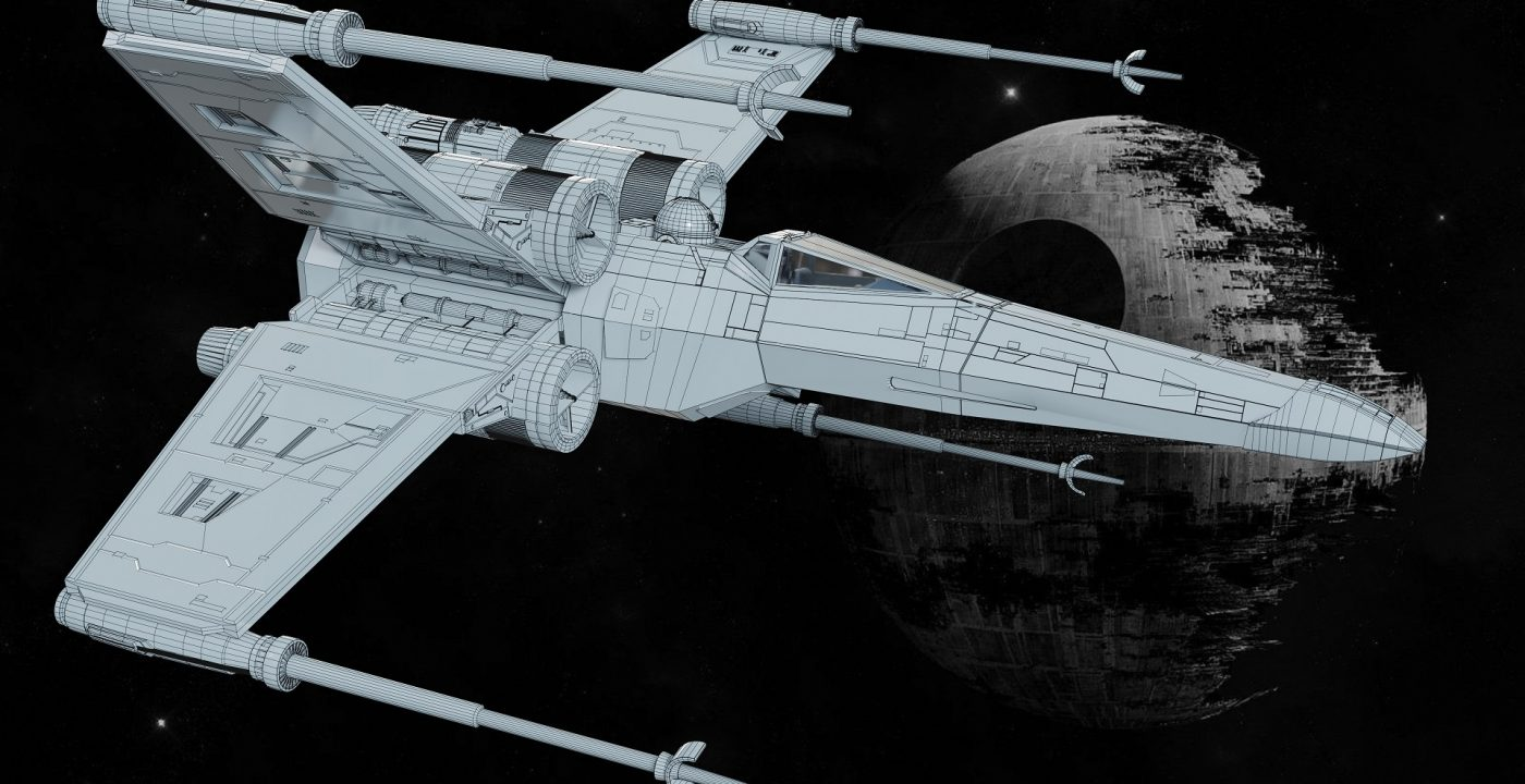 X-WING_31__Wireframe