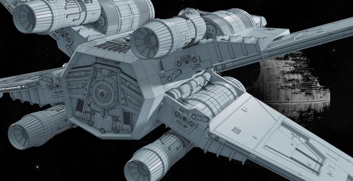 X-WING_32__Wireframe