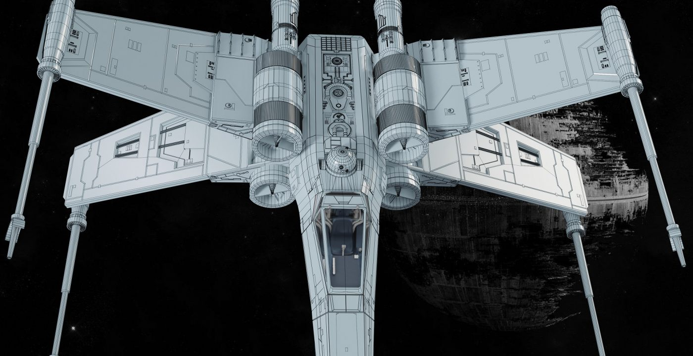 X-WING_33__Wireframe