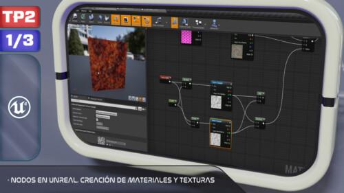 Nodos en Unreal. Creación de Materiales y Texturas-1