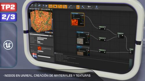 Nodos en Unreal. Creación de Materiales y Texturas-2
