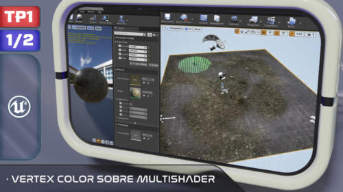 Vertex Color sobre Multishader